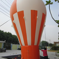 橙白热气球造型广告气模go056图片